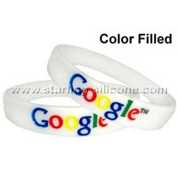 Color Filled Silicone Wristbands /Silicone Bracelets-STARLING thumbnail image