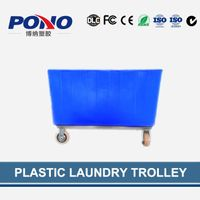 Pono-9002 plastic garment delivery truck for collecting&distributing linens ,popular in laundry cent