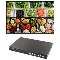 4k@60hz HDMI 2.0 video wall controller 2x2 HDMI DP and MHL in with remote control