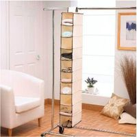 10-Shelf Closet Organizer Collection Hanging Accessory Storage Shelves