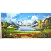 Oil painting hand painter landscape thumbnail image