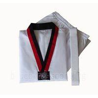 White taekwondo dobok uniform in sports &martial arts uniform thumbnail image