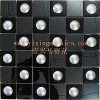 3D effect glass mosaic tiles mix metal mosaic for wall decoration thumbnail image