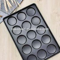 Industrial non-stick bread pan 15 multi-link bread mould Hamburger pan Burger baking pan