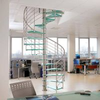 Stainless steel glass Spiral staircase/stairs