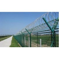 Chain Link Fence With Razor Wire thumbnail image