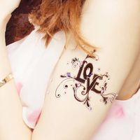 Temporary Tattoo, Mixed Crown feathers Body Art Stickers Removable Waterproof Temporary Tattoo Cover