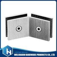 Glass Square Partition Hinge 135 Degree Two Sides