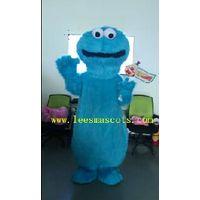 OHLEES Sesame street professional custom mascot costume blue mascot adult size