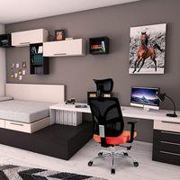 Orange Mesh Back Office Chair thumbnail image