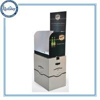 Top Selling Cool Energy Drink Cardboard Display Stand,Excellent Design Drink Display For Supermarket