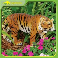 KANO5979 Indoor Artificial Animal Statue Real Fiberglass Tiger