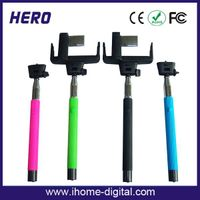 Brand new best selling selfie stick extendable bluetooth monopod,portable self-pod monopod