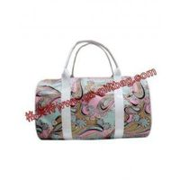 floral printing polyester fiber duffel travel bag thumbnail image