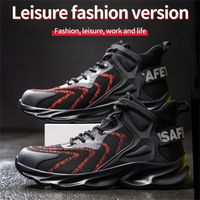 Custom logo warehouse breathable lightweight steel toe working high quality safety shoes thumbnail image