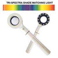 Dental shade guide tooth color comparator shade matching light