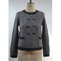12STC0518 ladies' double breasted sweater