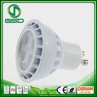 Three years warranty high quality gu10 3w spotlight