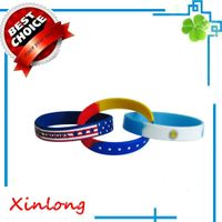2016 Custom segmentSilicone Wristband / Silicone Bracelets For Promotional Gifts,Layered sprots fash