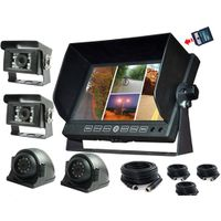 7 Inch 32GB recording Monitor with DVR function for truck/bus