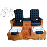 Classic Double Seats Dual Salon Spa Pedicure Chair Foot Massage XY-89083B