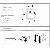 Aluminium Profile C Channel