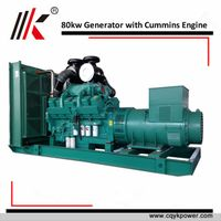 80kw three phase cummins diesel generator set for wholesale