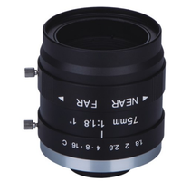"large format c mount 1"" FA lens 75mm SA-7518L"