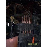 Copper tube upward continuous casting machine