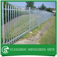 Heavy duty anti climb hot dipped galvanized steel palisade for school