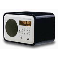 FM radio clock radio alarm radio wooden