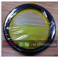 Car Steering Wheel Cover Package Yellow PVC Bag