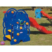 Small playground plastic slide with swing set for kids FY826402 thumbnail image