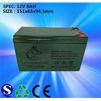 Deep cycle 12v 8ah lead acid battery for sprayer