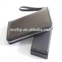100% carbon fiber zips wallets for Christmas gift