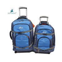 Factory nylon tolley luggage bag wheeled travel bag inside trolley bag