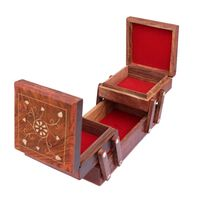 Handmade Wooden Jewellery Box for Women Jewel Organizer Hand Carved Carvings Gift Items thumbnail image