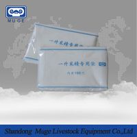 Pig semen collection bag for pig artificial insemination