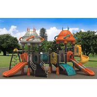 HLB-7080B Kids Plastic Slide Swing Set Children Playground thumbnail image