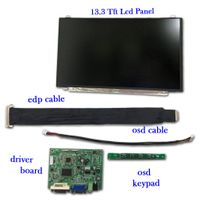 "13.3 "" Tft Lcd Panel w/ resolution 1920x1080 FHD comes with Driver Board Kits"