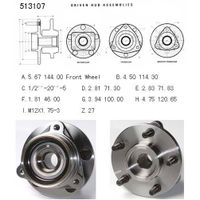 AMC-Jeep Truck Axle bearing& hub assembly 513107/53000228 thumbnail image