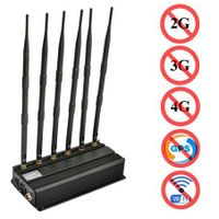 H6 Bands All Cell Phone Signal Jammer 2G 3G 4G WiFi GPS thumbnail image