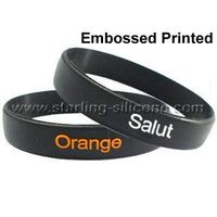 STARLING Silicone- Embossed Printed Silicone Wristbands, Embossed Silicone Bracelets thumbnail image