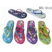 High quality summer custom die-cut beach slipper flip flops women cheap