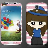 Clear screen protector with design for Samsung galaxy S4