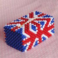 Hand made acrylic bead tissue box thumbnail image