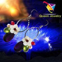 Women's popular jewelry Handwork jewelry Fashion hollow with colorful Crystal ,bead Coral earring