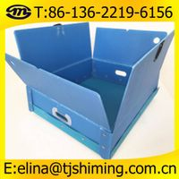 Folding and collapsible corflute plastic packing box