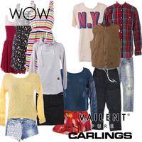 CARLINGS, VAILENT clothes for men & women