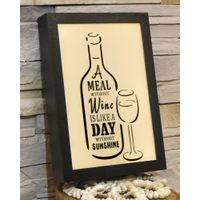 2017 hot new product pub style party drinking theme wooden framed lighting decoration